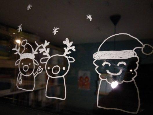Kerstmis raamdecoratie